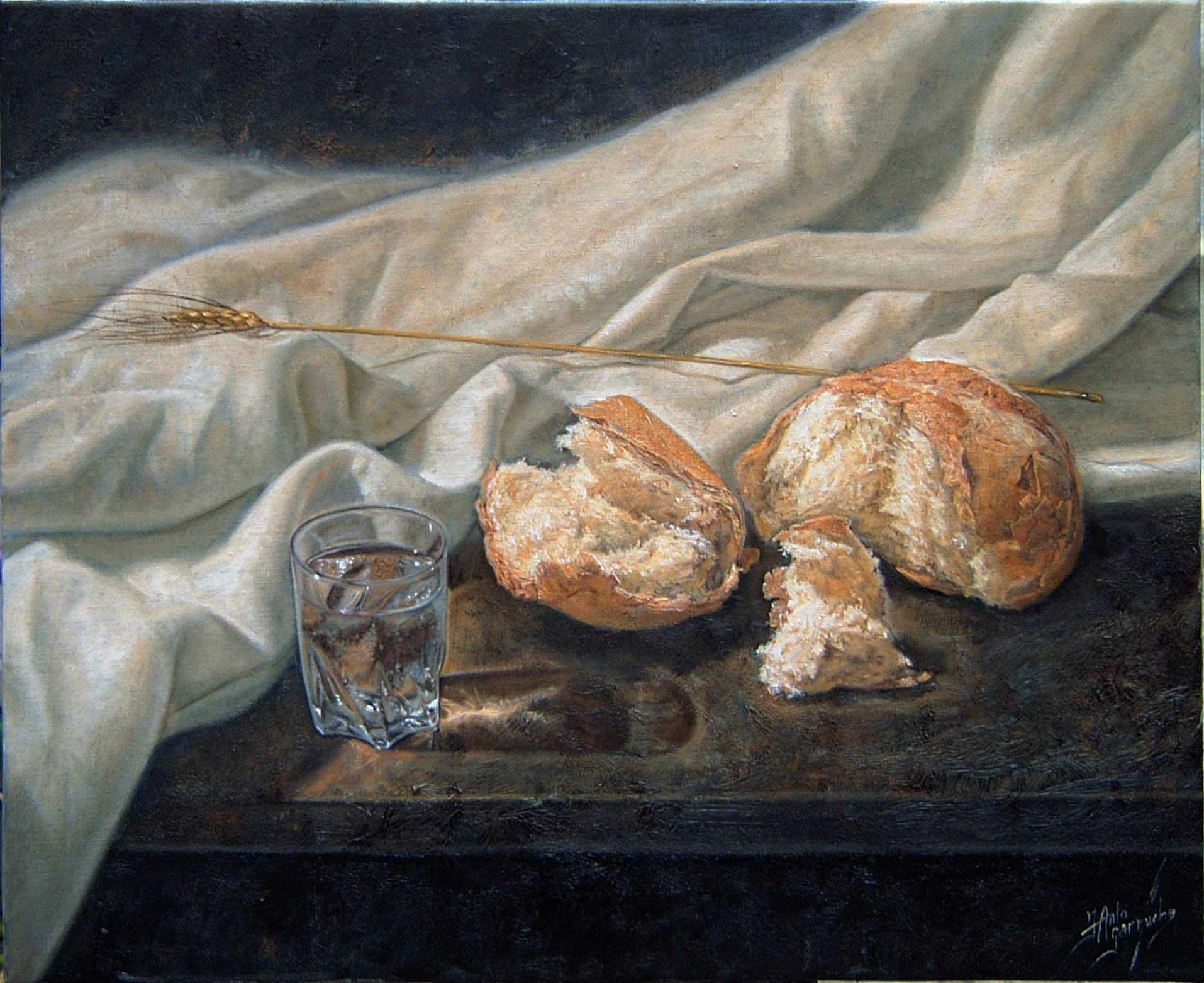 Pan con espigas de trigo