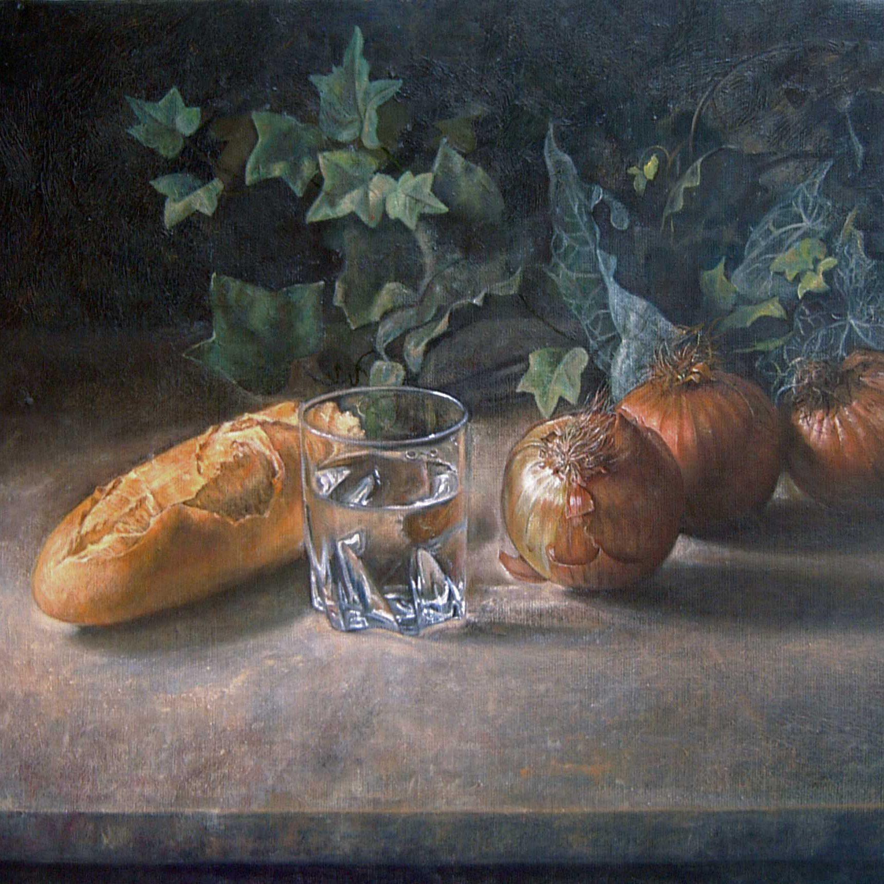 Cebollas, pan y agua