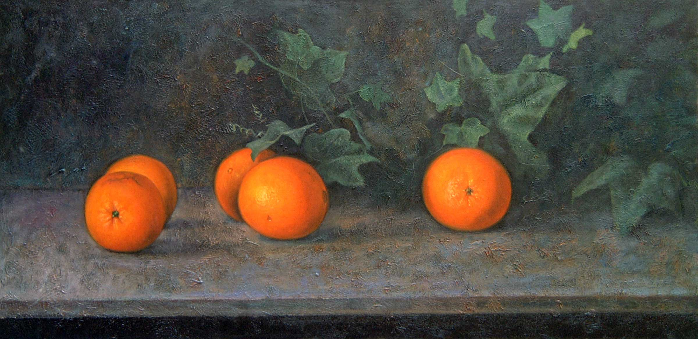 Naranjas y hiedra
