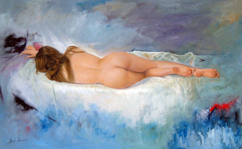 Desnudo femenino de espalda