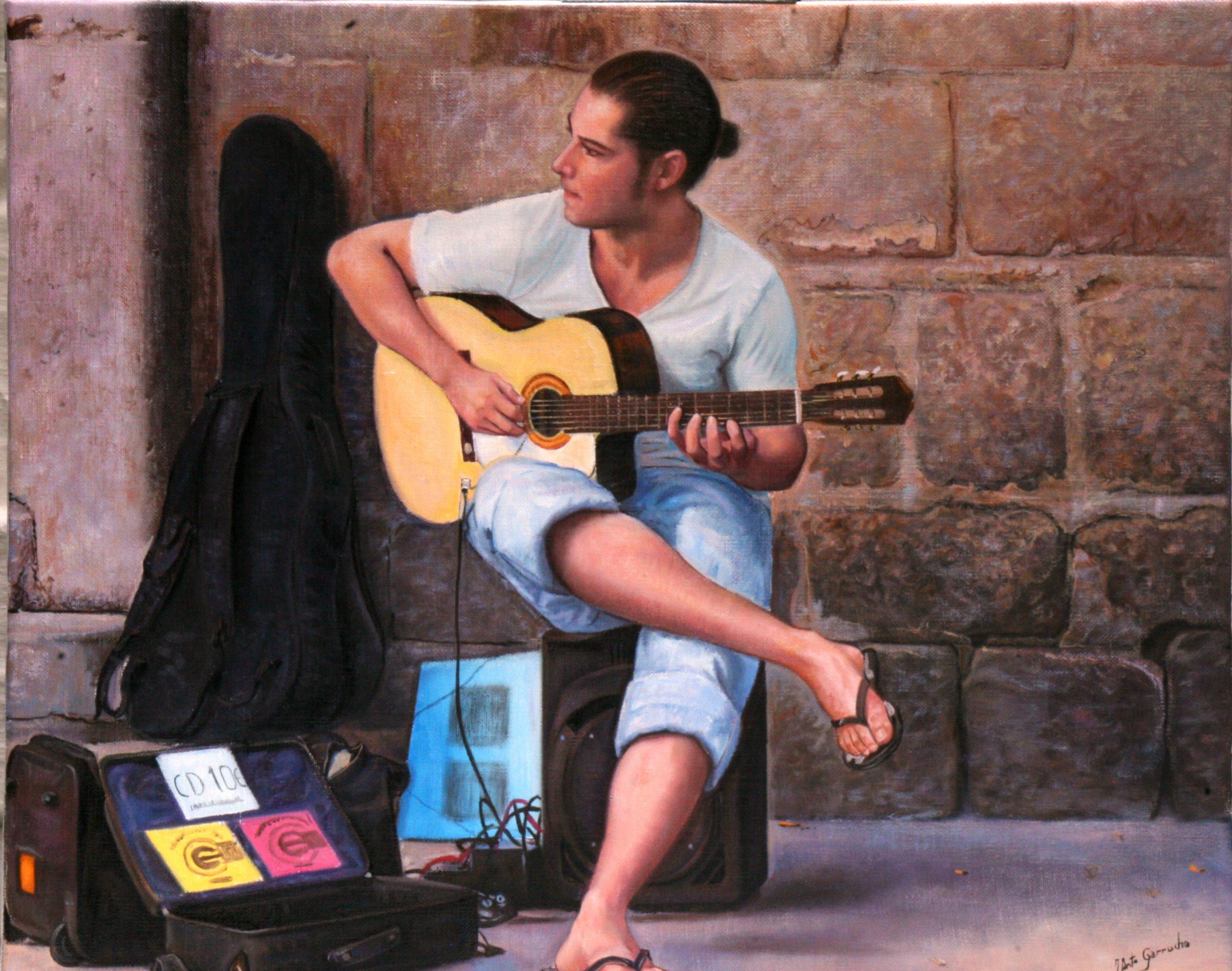 Guitarrista en el barrio gótico II